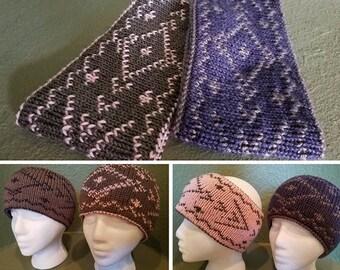Headband Knitting pattern - reversible, double knit