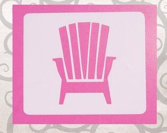 Adirondack Chair Stencil, Beach Chair Stencil, Mylar Adirondack Chair, Beach Theme
