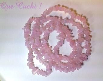 Long necklace rose quartz