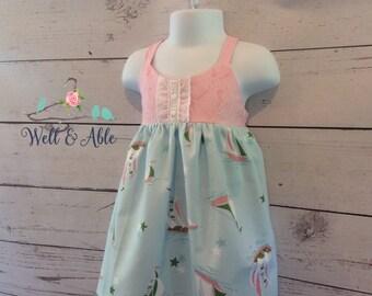 Baby blue Sailor hummingbird dress