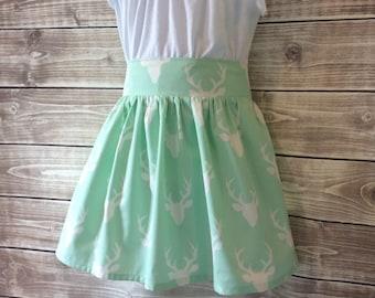 Mint deer skirt