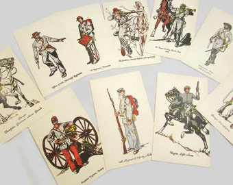 Vintage War of the States AKA Civil War - Military Post Cards
