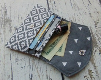 Fabric Womens Wallet, Small Wallet, Credit Card Holder, Womens Wallet, Gift Card Holder