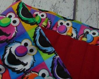 Elmo Crayon Roll, Crayon Organizer, Stocking Stuffer, Kids Gift