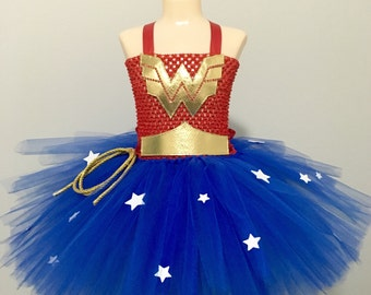 Wonder Woman costume/ Wonder Woman tutu dress/ Wonder Woman birthday/ super hero costume/ super hero tutu/ super hero birthday