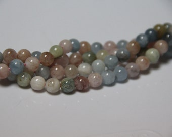 "Beryl 8mm smooth round beads 16"" length full strand"