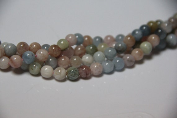 "Beryl 8mm smooth round beads 16"" length full strand"