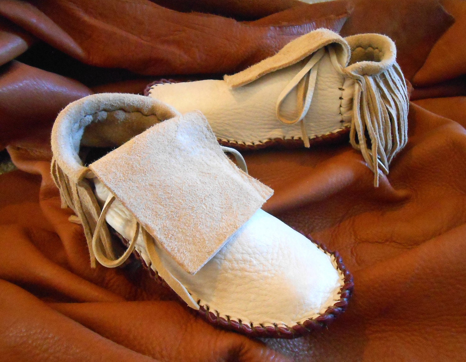 handmade indian moccasins moccasins with fringe handmade leather mocs sewn 5398