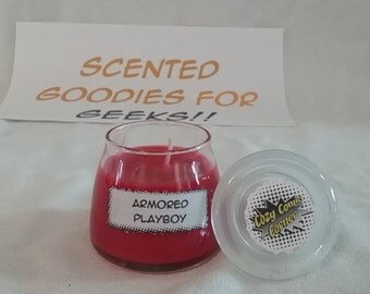 Armored Playboy - Marvel Comics comic book scented candles - Tony Stark Iron Man - The Avengers
