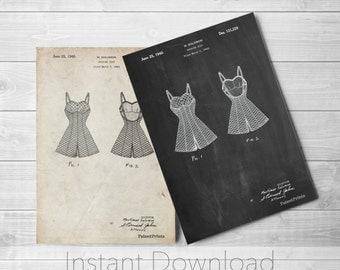 Bathing Suit Printables, Vintage Swimwear, Beach House Wall Decor, Nautical Art, Vintage Swimsuit PP0254