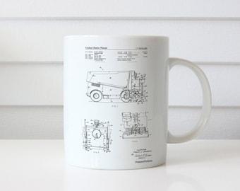 Ice Resurfacing Patent Mug, Hockey Mug, Sports Decor, Figure Skating Gifts, Transportation Mug, Ice Hockey, PP0313