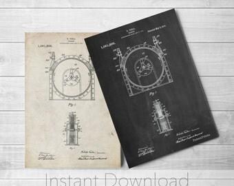 Tesla Printables, Tesla Turbine Patent Poster, Nikola Tesla, Technology Art, Physics Poster, PP1097