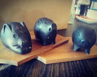 3 Clay Pigs #3littlepigs