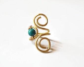 Handmade brass chevalier ring.