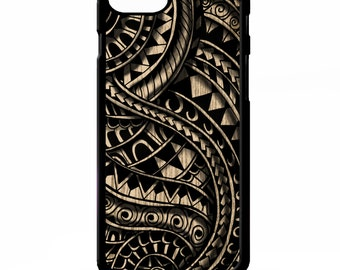 Maori polynesian samoan tribal print vintage retro black and white pattern graphic cover for iphone 4 4s 5 5s 5c 6 6s plus SE phone case