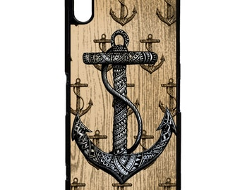Anchor nautical sea sailor print pattern vintage graphic art phone case cover for Sony Xperia Z5 Z5 mini