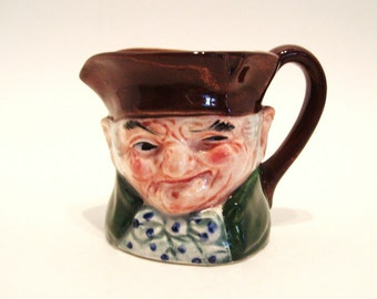Miniature Toby Jug Robin Hood Made in Japan Vintage 3.25 Inches Tall
