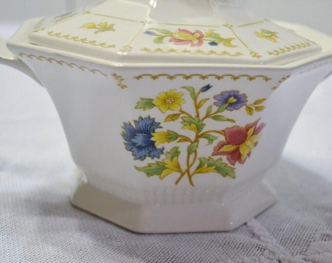 Vintage Nikko Sugar Bowl with Lid Floral Design Classic Collection Japan Panchosporch