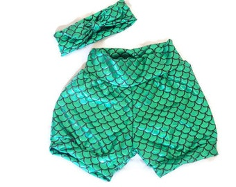 Ariel Mermaid Bubble shorts//girls//baby//toddler//costume//shorts only