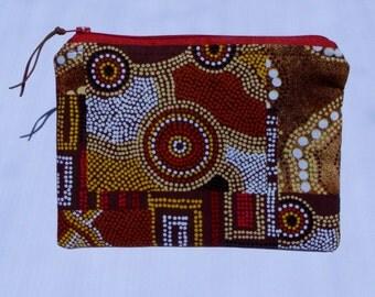 Aboriginal Art design zipper pouch/ purse/ bag