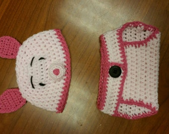 Piglet newborn costume