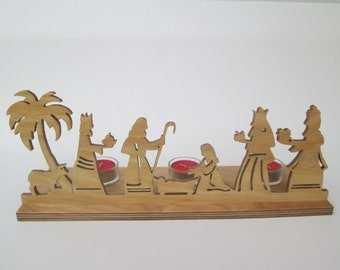 Nativity - tealight stand - christmas decoration - illuminating