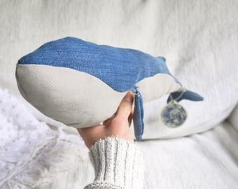 Re-purposed Denim Whale