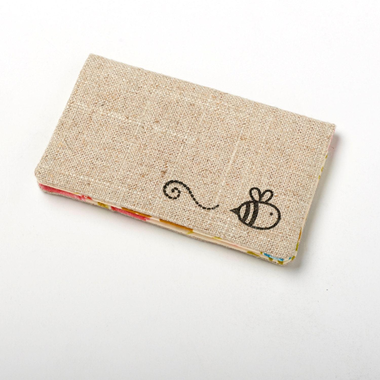 Womens Pink Wallet, Floral Business Card Holder, Flower Card Case ...