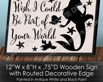 Part of Your World Wooden Sign