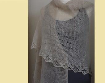 Knitted triangular shawl
