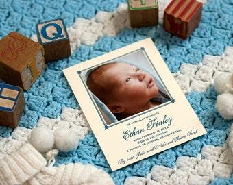 Letterpress Birth Announcement | Letterpress Adoption Announcement | Photo Announcement | Custom Birth Announcement | Small Announcement