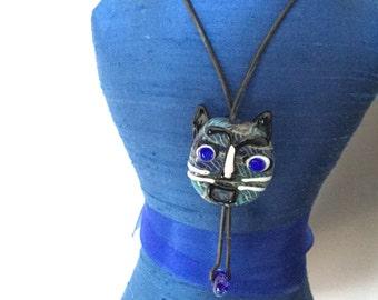 Glass Cat Necklace/Choker