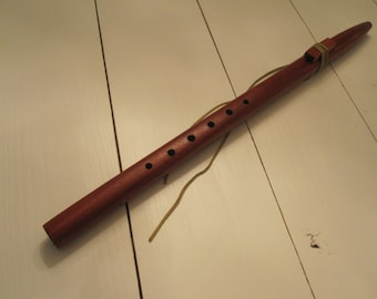 Woodwind Flute,Native American Style Flute African Padauk F# 3/4 inch bore