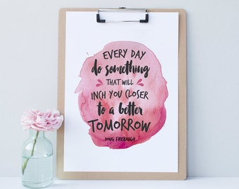 Printable Watercolor Inspirational Quote Print - Instant Download