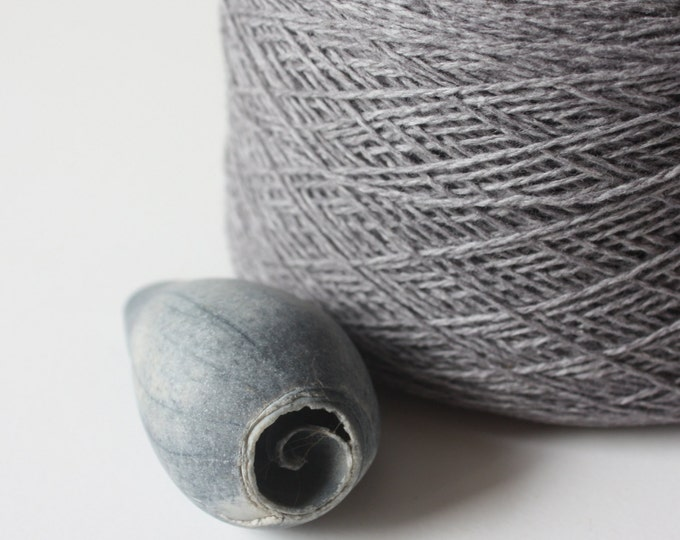 Coastal Col: 25 Grey Lambswool-Cotton Blend