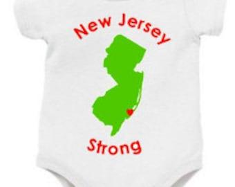 Jersey Strong Onesie, New Jersey Onesie