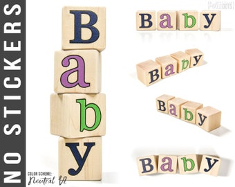Baby Name Blocks - Personalized Letter Blocks - NO STICKERS