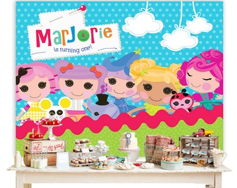 Lalaloopsy Printable Backdrop - in Digital file, YOU PRINT