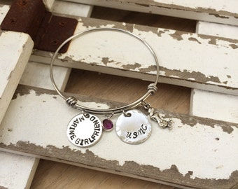 Marine Corps Girlfriend Bracelet