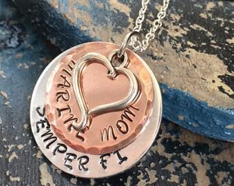 Semper Fi Marine Mom Necklace