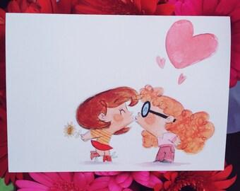 Lesbian valentine  Etsy