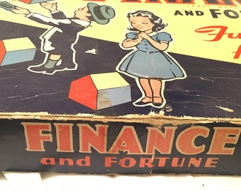 Vintage 1936 Finance Fortune Board Game Parker Brothers PRE-MONOPOLY