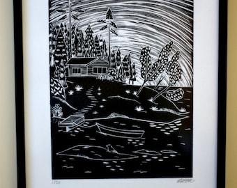 Archipelago 2 Original Lino Print