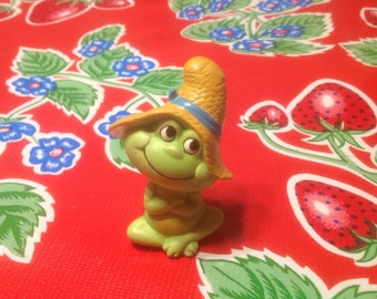 Vintage cute hand painted frog figurine- Japan