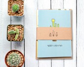 Pack of 5 Cactus Christmas cards