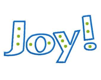 Joy Embroidery Design - Outline - 3 sizes - Words Embroidery - Joy Embroidery