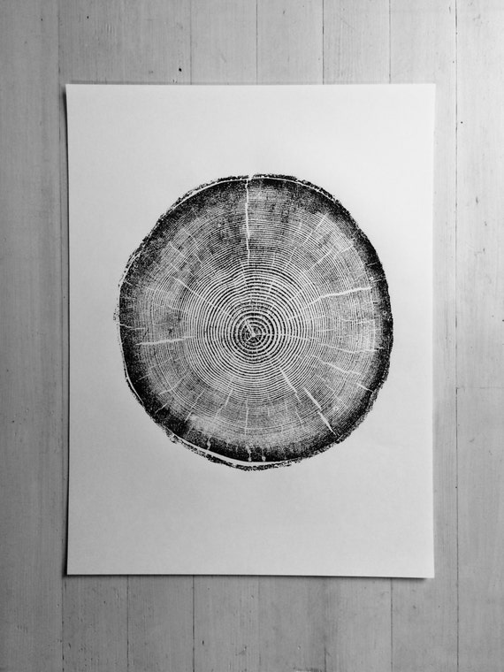 Big Cottonwood Canyon, Tree Ring Print, Utah Art, Botanical art Print, Woodblock Print, Bedroom, gift for guys, fathers day, dad gifts