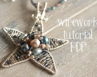 Sparkle Starfish Wirework Pendant Tutorial PDF