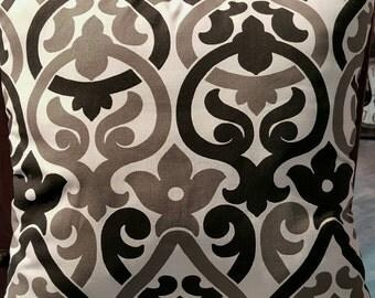 Modern Premier Prints Alex Shadow Black Grey White Decorative Pillow Cover with Hidden Zipper