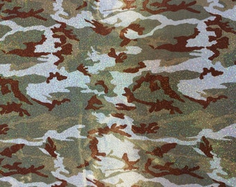 Fabric Glamoflage // Sparkle Camo fabric by the yard